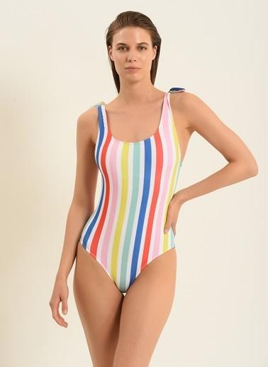 Morhipo Beach Kadın Bağlama Detaylı Mayo MBKSS21MY0009 Renkli